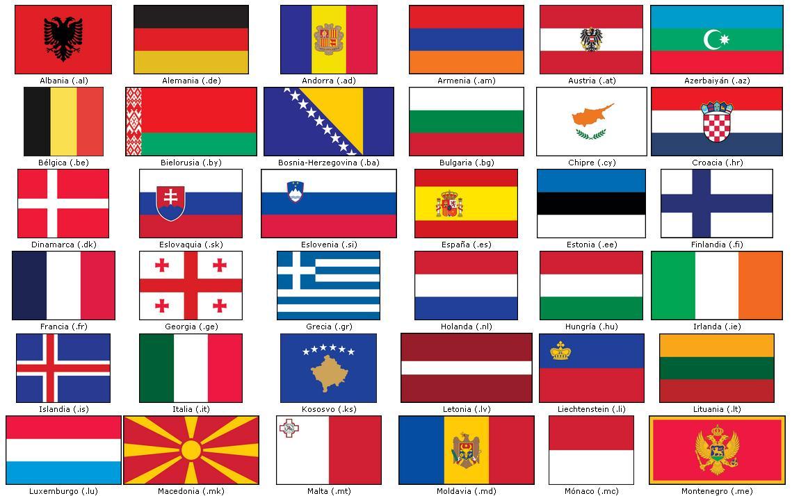 paises de europa con banderas y capitales