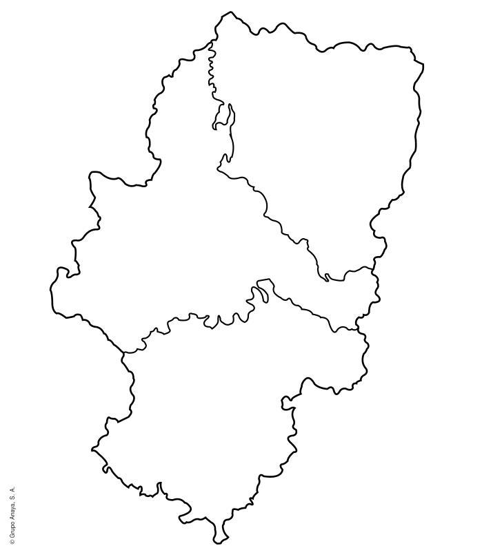 mapa político mudo Aragón