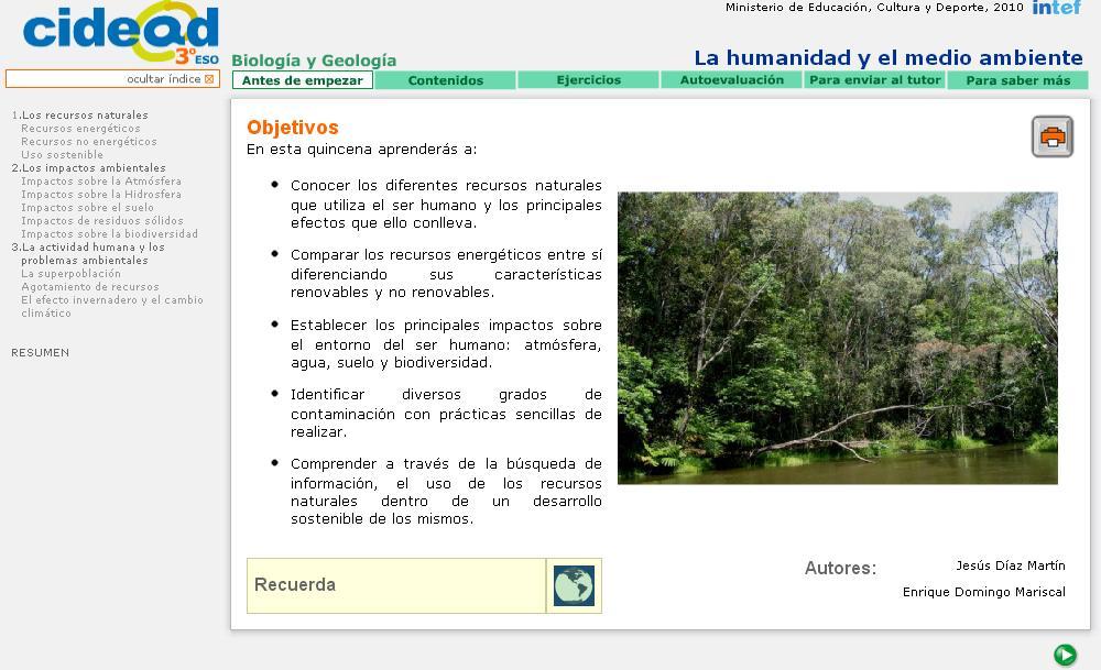 humanidad y medio ambiente