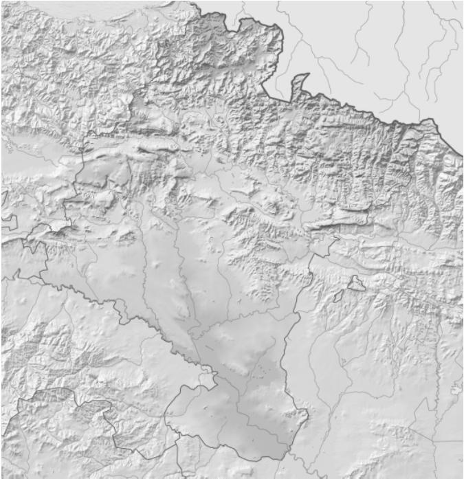 Mapa físico mudo Navarra