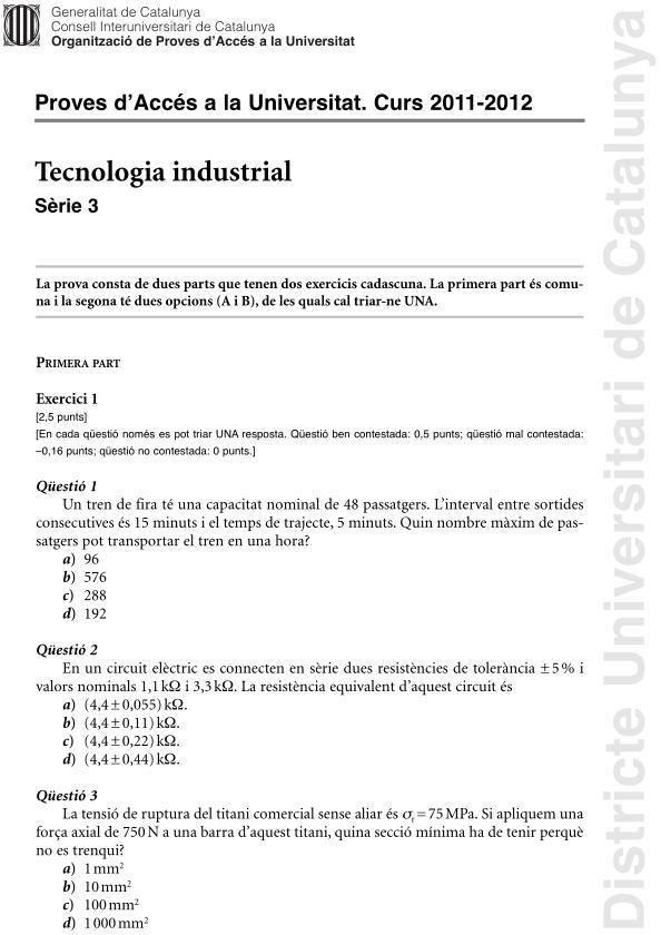 Tecnología Industrial Cataluña