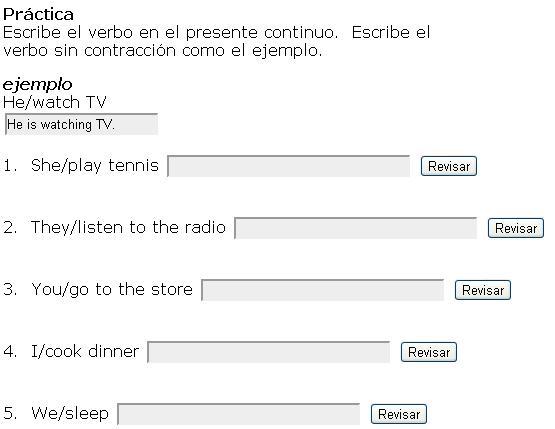 Ejemplo De Presente Continuo En Ingles Ejemplo Sencillo