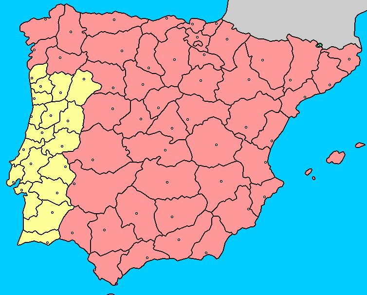 Mapa Provincias España Interactivo.Mapa Interactivo De La Peninsula Iberica Provincias