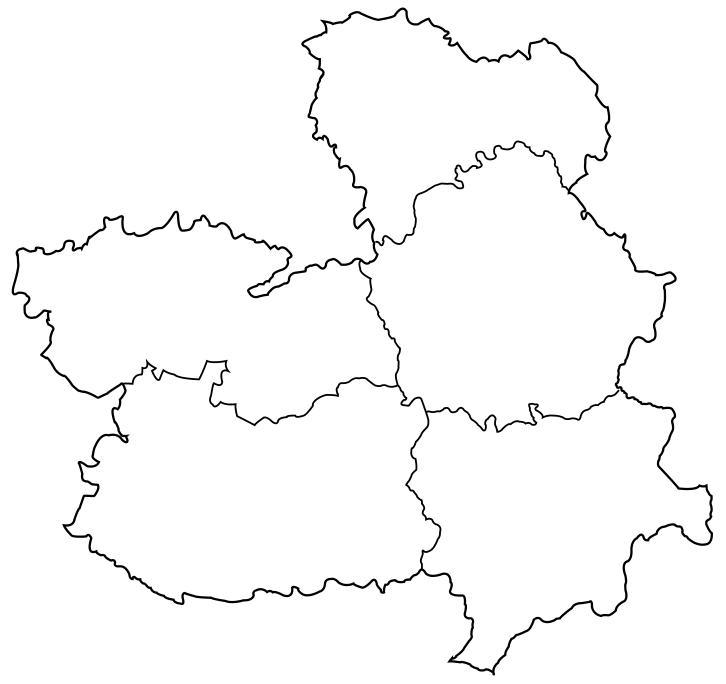 Mapa político mudo Castilla-La mancha