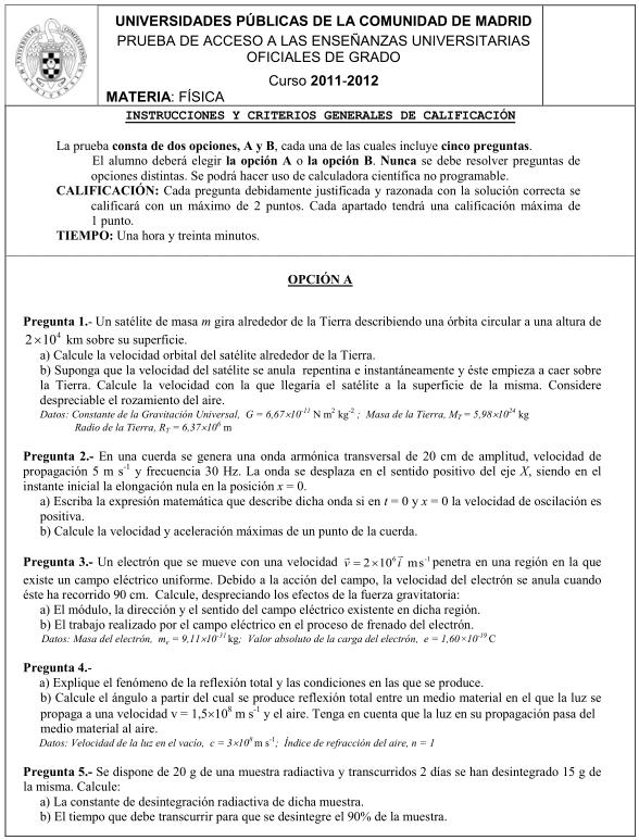 Física Madrid