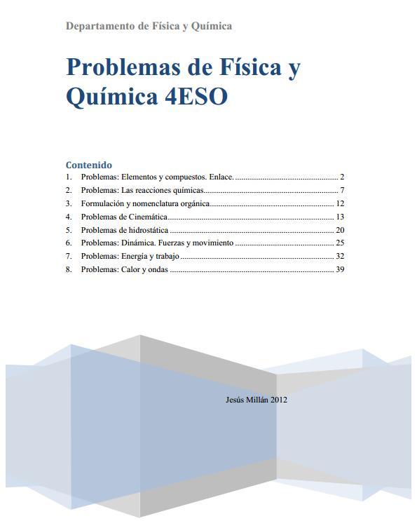 Problemas de Física y Química 4º ESO - Didactalia: material educativo
