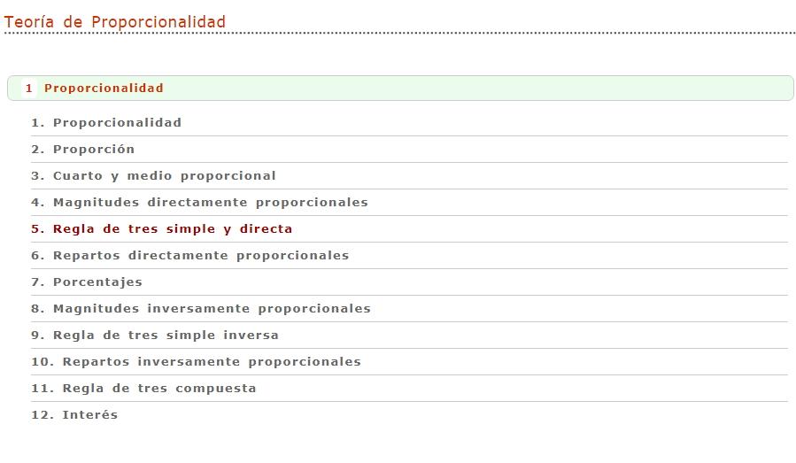 Proporcionalidad (Vitutor) - Didactalia: material educativo