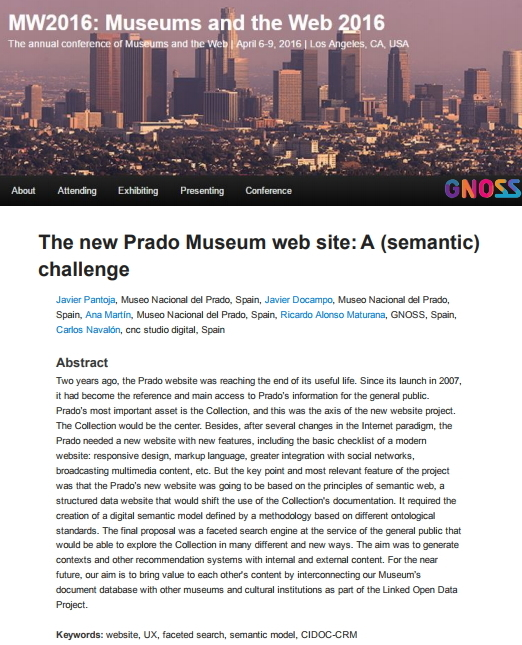 The new Prado Museum website: A (semantic) challenge