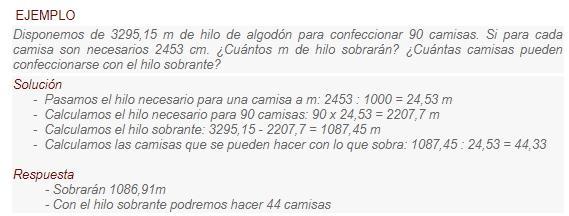 Números decimales y Sistema Métrico Decimal