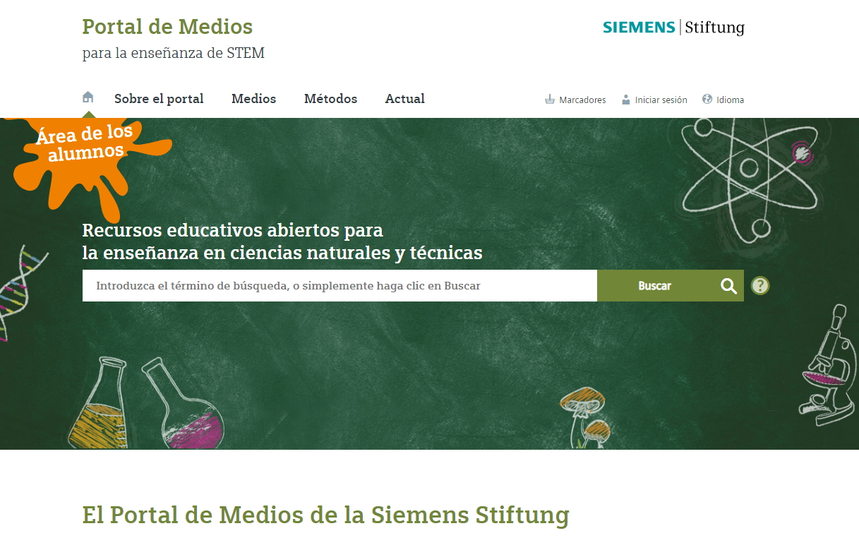 Portal de Medios didácticos STEM: Energía, medio ambiente y salud (Siemens Stiftung)