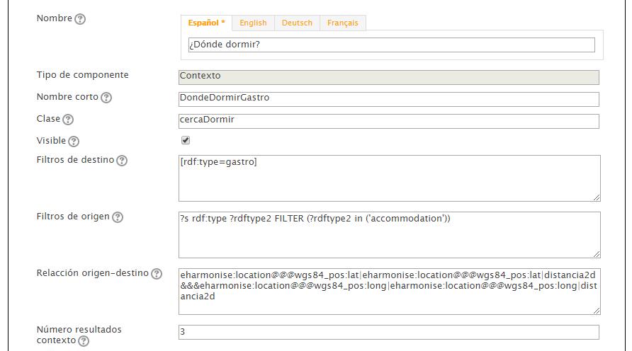 Configuración de contextos y recursos relacionados - Caso de uso