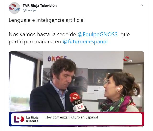 TV Rioja entrevista a Ricardo Alonso Maturana con motivo de las XI Jornadas Futuro en Español