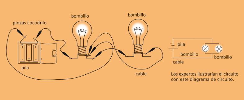 Circuito en paralelo. Experimento de electricidad para niños de 4 a 7 años
