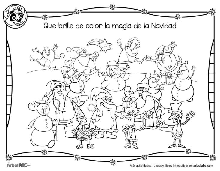La magia de la Navidad: imagen para colorear