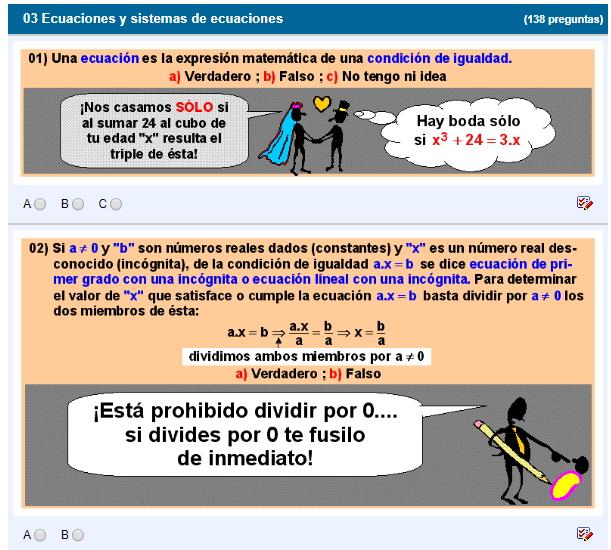 Ecuaciones y sistemas de ecuaciones (Fonemato)