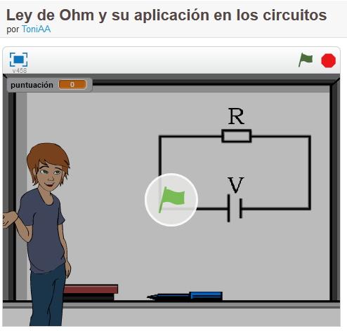 Ley de Ohm y su aplicación en los circuitos en Scratch