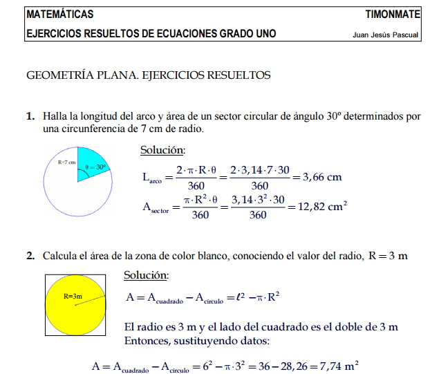 Ejercicios Resueltos Sobre Geometria Plana Didactalia Material