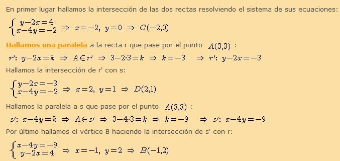 Intersecciones - 1º Bach