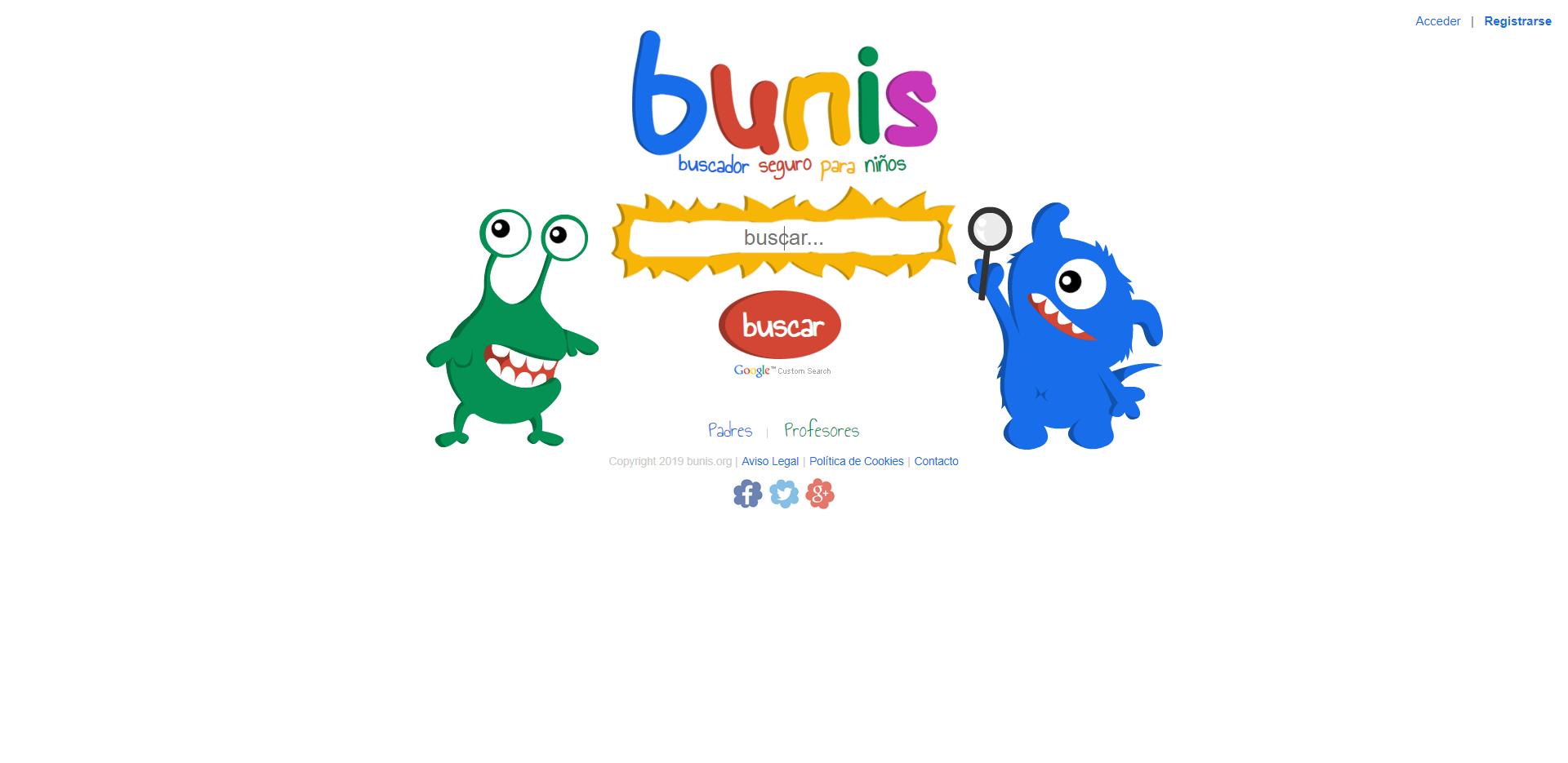 Bunis, el buscador seguro para niños