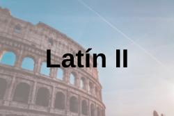 Latín II. EvAU 2020