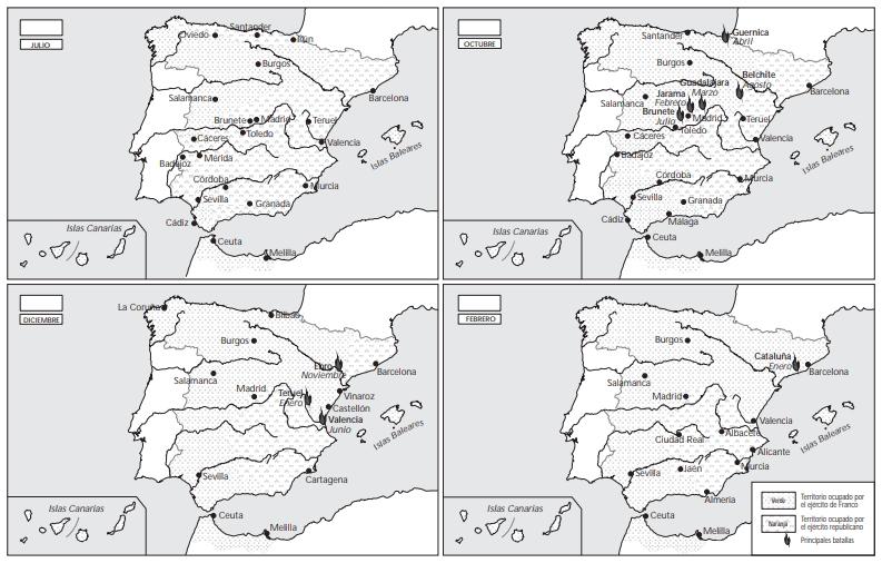Desarrollo de la Guerra Civil Española (Educarchile)