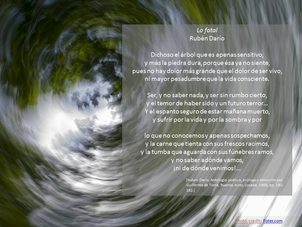 Lo Fatal de Rubén Dario