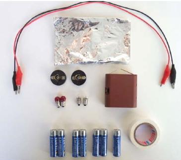 A4 Combinar pilas. Experimento de electricidad para niños de 8 a 12 años