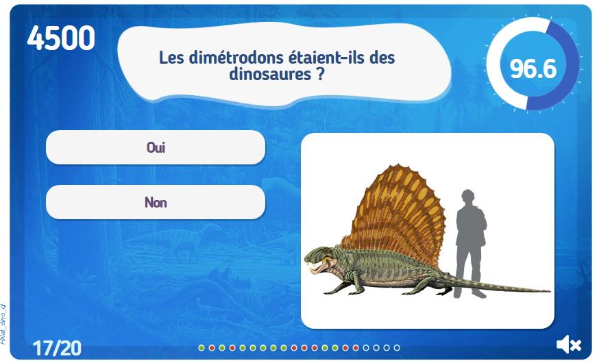 Quiz Les dinosaures. Test sobre dinosaurios (jeux-historiques.com)
