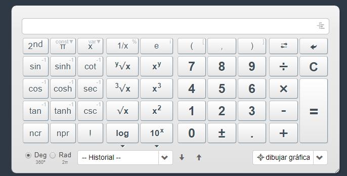 Web 2.0 calculadora científica