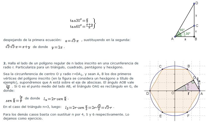 Razones y relaciones trigonométricas  - 1º Bach