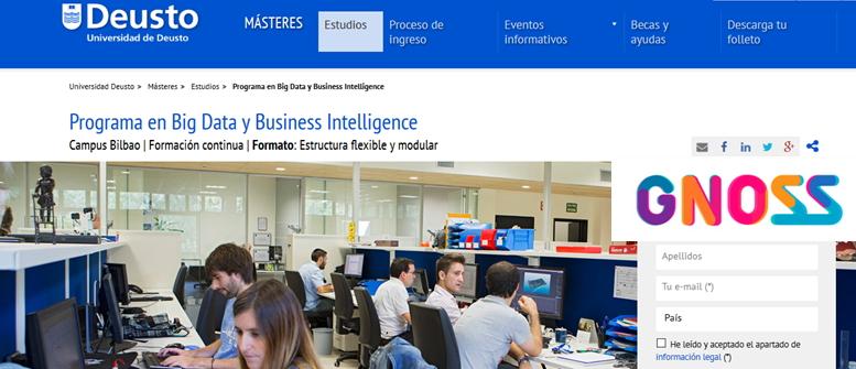 GNOSS colabora en el Programa de Big Data y Business Intelligence organizado por la Universidad de Deusto