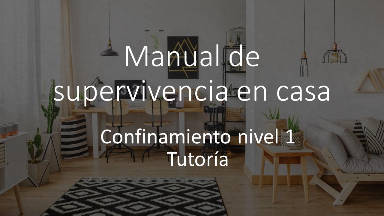 Tutoría: Manual de confinamiento (COVID-19)