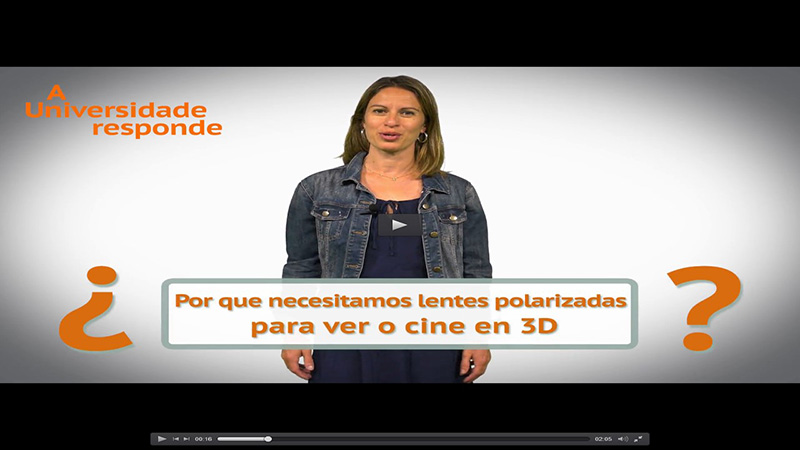 Por que necesitamos lentes polarizadas para ver o cine en 3D?