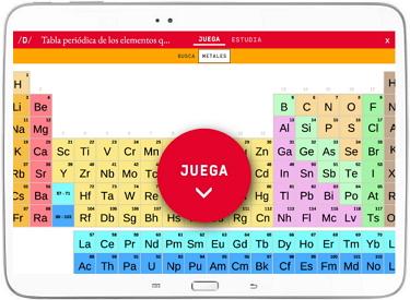 Reta a tus amigos a jugar a la tabla periódica