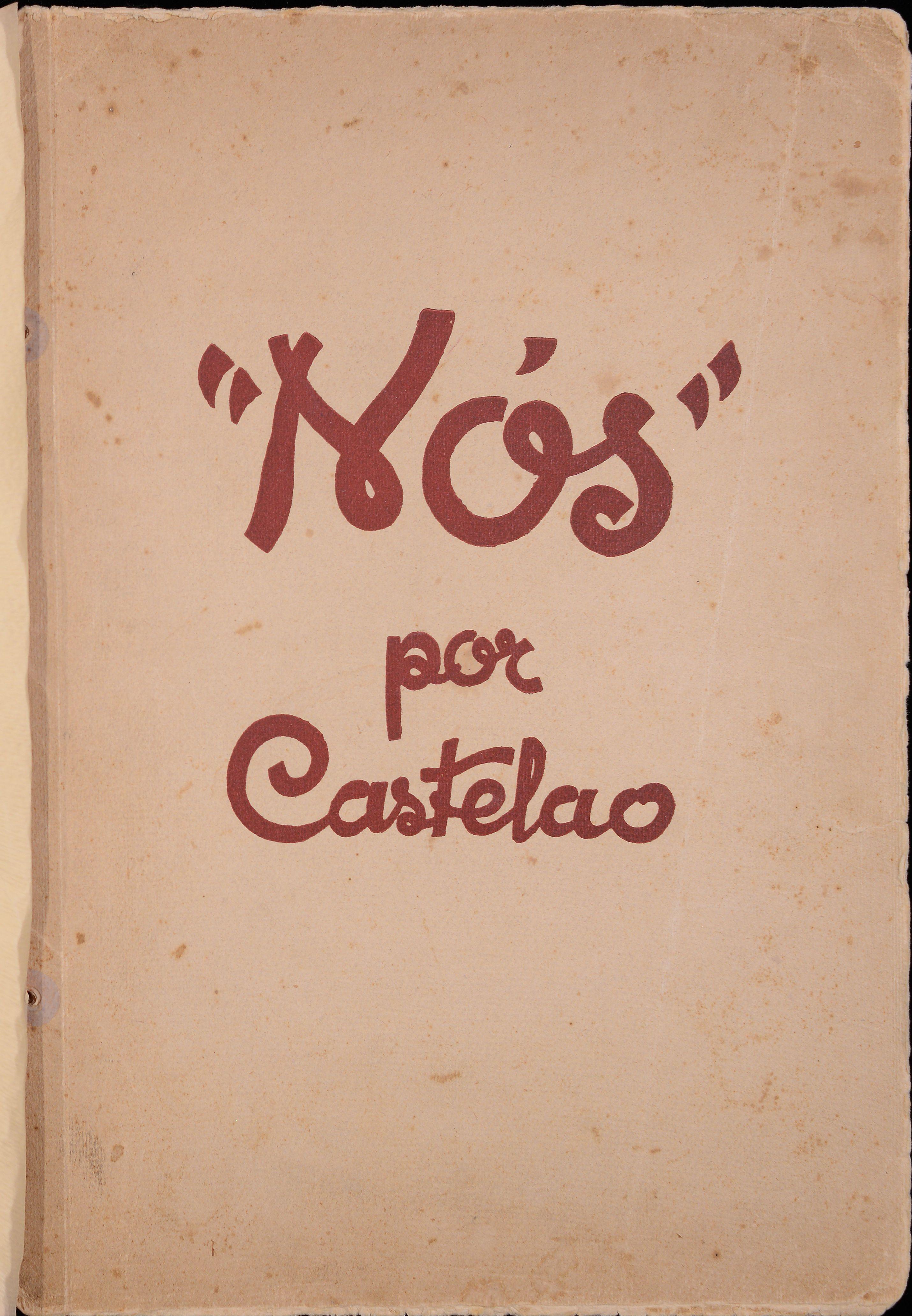 Portada de un libro que tiene escrito Nós, por Castelao