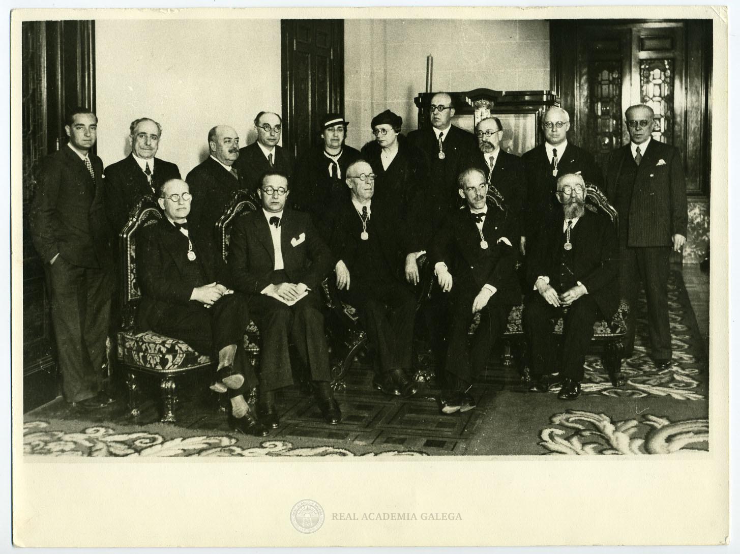 Recepción de Castelao en la Real Academia Galega