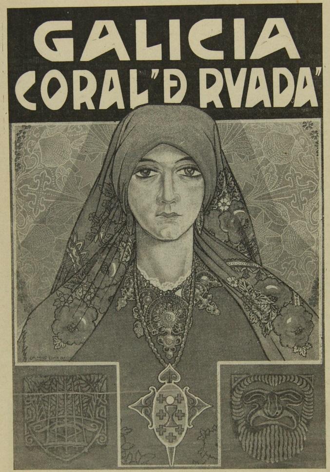 cartel de Galícia coral de ruada