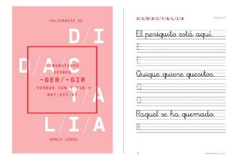 Cuadernos de caligrafía