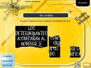 Definición de determinante. El artículo