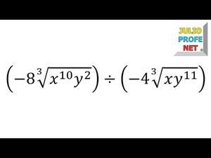 División de radicales del mismo índice (JulioProfe)