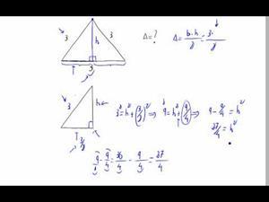 Área de un triángulo equilátero (con todo detalle)