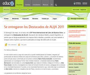 Se entregaron los Destacados de ALIJA 2011 (Argentina)