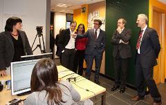 Visita de Ángel Gabilondo, ministro de Educación, a las oficinas de GNOSS