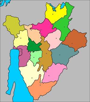 Mapa interactivo de Burundi: provincias y capitales (luventicus.org)