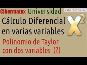 Polinomio de Taylor en dos variables (ejemplo 2) Cibermatex