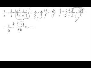 Operación combinada de números racionales
