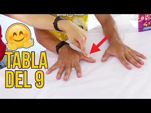 La tabla del nueve con las manos