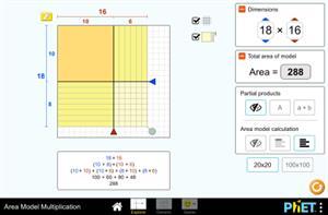 Flächenmodell Multiplikation