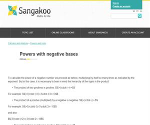 Powers with negative bases