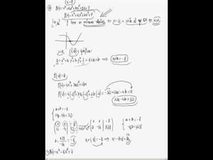 Cálculo de coeficientes de un polinomio a partir de rectas tangentes y extremos